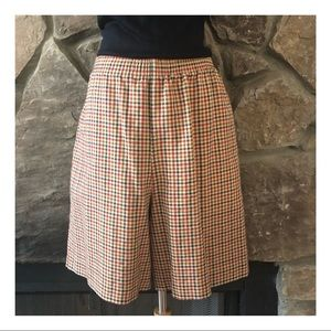 Vintage Gingham Skirted Shorts, Fall/Winter, S-L